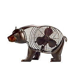 Deco Breeze Black Bear Figurine Fan