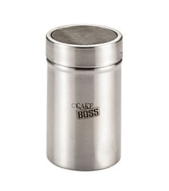 Cake Boss® Stainless Steel Tools and Gadgets 1-cup Powdered Sugar Shaker with Plastic Lid