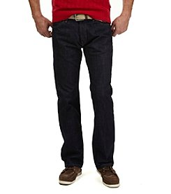 Nautica Men's Big & Tall Relaxed Fit Dark Wash Crosshatch Jeans