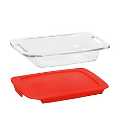 Pyrex®  Easy Grab Oblong Baking Dish with Red Plastic Storage Lid