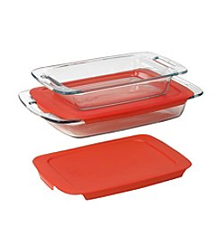 Pyrex®  Easy Grab 4-pc. Oblong Baking Dish Value Pack with Red Plastic Lids
