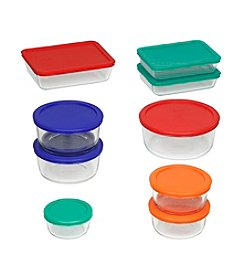 Pyrex® Storage Plus 18-pc. Storage Set with Colored Lids