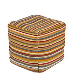 Chic Designs Byron White Decorative Pouf