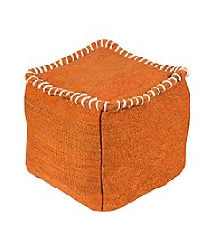 Chic Designs Kaycee Rust Decorative Pouf