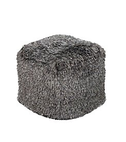 Chic Designs Cordova Black Olive Decorative Pouf