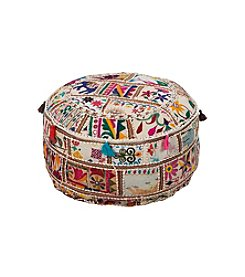 Chic Designs Merrill Taupe Decorative Pouf