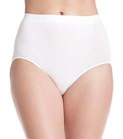 Bali® One White Smooth U All-Over Smoothing Briefs