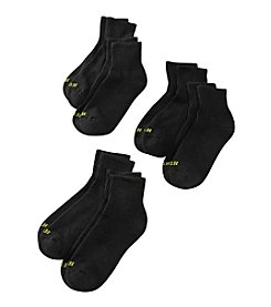 HUE® 6-pack Black Mini Crew Socks