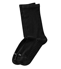 HUE® Black Massaging Sole Socks