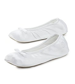 Isotoner® Signature Satin Ballerina Slippers