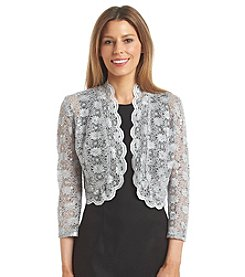 R&M Richards® Elbow Sleeve Lace Shrug
