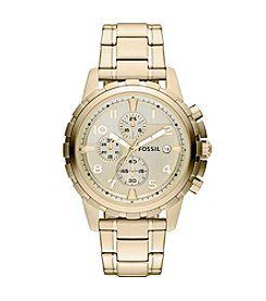 Fossil® Men's Dean Chronograph Watch in Stainless Steel with Goldtone Plating