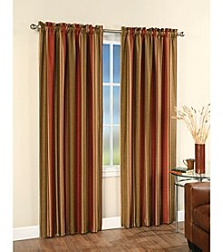 CHF Faux Silk Stripe Lined Window Panel