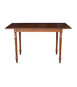 International Concepts Espresso Turned Leg Table with Butterfly Extension