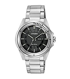 Citizen® Eco-Drive Men's Stainless Steel HTM Watch with Date