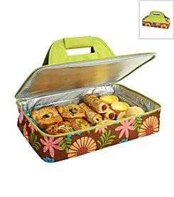 Picnic at Ascot Floral Insulated Casserole Carrier