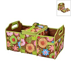 Picnic at Ascot Floral Trunk Organizer and Cooler Set