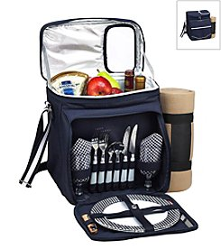 Picnic at Ascot Bold Picnic Cooler for Two with Blanket