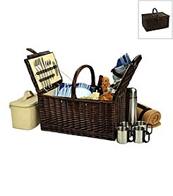 Picnic at Ascot Buckingham Basket for Four with Blanket and Coffee Service
