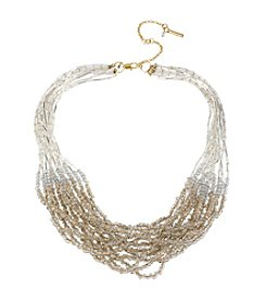 Kenneth Cole® Goldtone Seed Bead Multi-Row Long Necklace