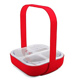 Zak Designs® KtoT Patented Four Section Caddy with Handle and SAN Lid