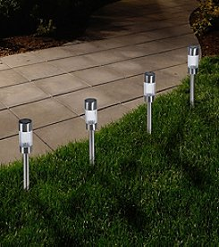 Pure Garden Set of Six Outdoor Solar Yard Pathway Lights