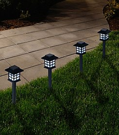 Pure Garden Set of Six Outdoor Lantern Solar Landscaping Lights