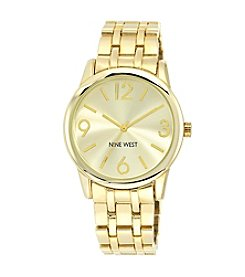 Nine West® Goldtone Bracelet Watch with Sunray Dial