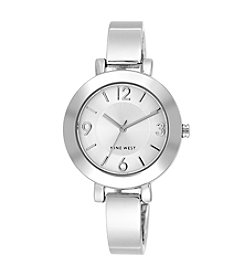 Nine West® Silvertone Bangle Watch