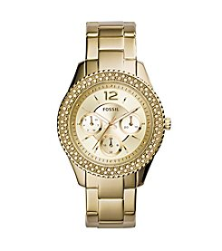 Fossil® Women's Stella Goldtone Stainless Steel Bracelet Watch With Tonal Dial