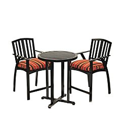 Sunjoy Black Sanibel Bistro Set