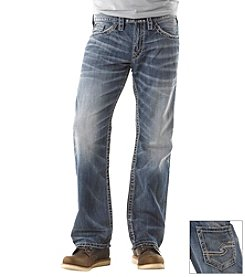 Silver Jeans Co. Men's Light Wash Zac Relaxed Fit Stretch Jeans