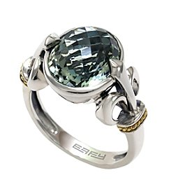 Effy® Balissima Green Amethyst Ring in Sterling Silver/18K Gold