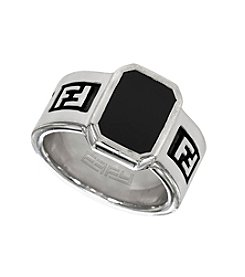 Effy® Balissima Men's Onyx Ring in Sterling Silver
