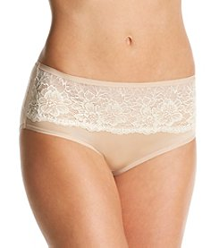 Bali® One Smooth U Comfort Indulgence Satin with Lace Hipster
