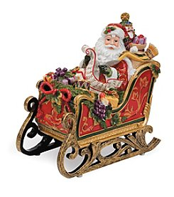 Fitz and Floyd® Regal Holiday Santa in Sleigh Musical