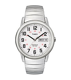 Timex® Men's Easy Reader Watch with Stainless Steel Expansion Band