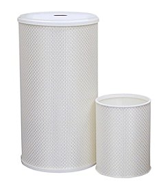 LaMont Home® Basketweave Round Hamper or Wastebasket