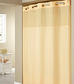 Hookless® Plain Weave PEVA Liner and Shower Curtain