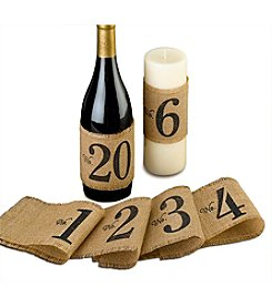 Lillian Rose® Burlap Table Number Wraps