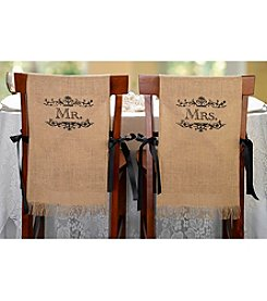 Lillian Rose® Mr. & Mrs. Burlap Chair Covers