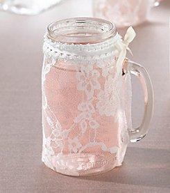 Lillian Rose® Country Lace Set of Four Lace Glass Covers