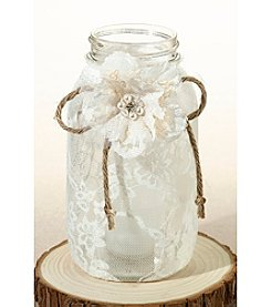 Lillian Rose® Country Lace Set of Four Large Lace Jar Covers