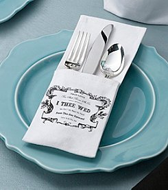 Lillian Rose® True Love Set of Four Silverware Holders