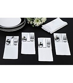 Lillian Rose® True Love Set of Four Blank White Silverware Holders