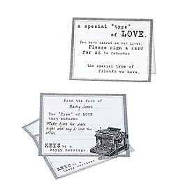 Lillian Rose® Set of 48 Typewriter Guest Cards