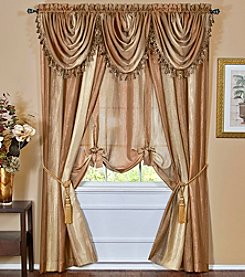 Achim Ombre Waterfall Valance or Tie-Up Shade