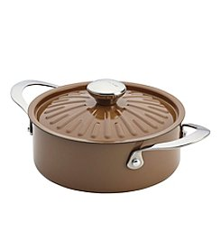 Rachael Ray® Cucina Oven-To-Table 2.5-qt. Mushroom Brown Hard Enamel Nonstick Covered Round Casserole
