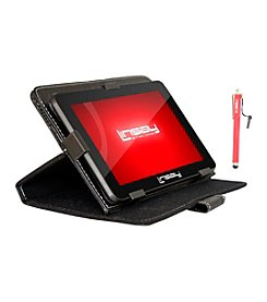 Linsay 7'' 1024x600HD QUADCORE  Dual Cam 8GB Bundle with Leather Case and Stylus Pen Android 4.4 Tablet PC