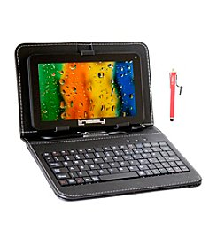 Linsay 7'' 1024x600HD QUADCORE  Dual Cam 8GB Bundle with Leather Keyboard and Stylus Pen Android 4.4 Tablet PC